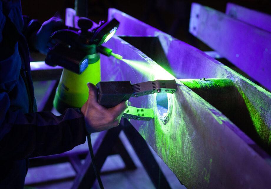 Magnétoscopie ultraviolet